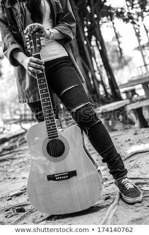 Woman with her guitar Stock photo © photography33