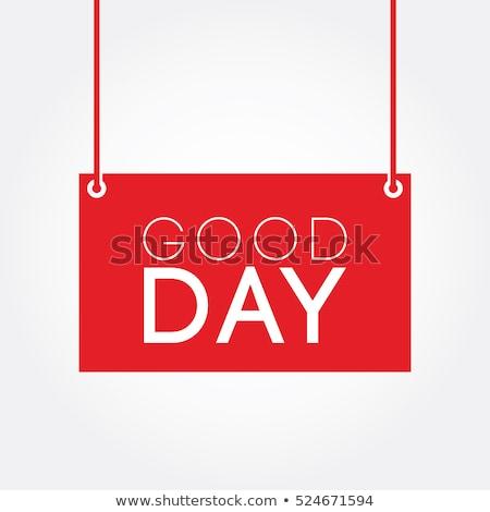 Una buena noticia nota adhesiva blanco Foto stock © devon
