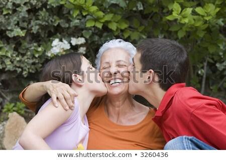 внучата целоваться бабушки женщину семьи девушки Сток-фото © photography33