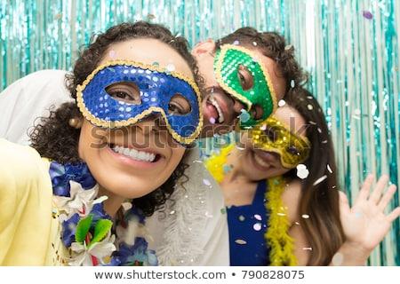 Donna indossare carnevale costume musica party Foto d'archivio © photography33