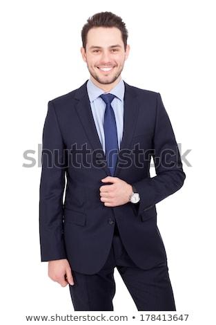Jonge zakenman permanente witte een Stockfoto © shyshka