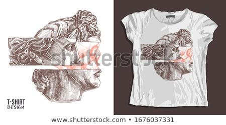 石膏 · 像 · 頭 · テクスチャ · 顔 · 目 - ストックフォト © sirylok
