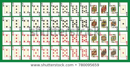 one ace and one king card stock photo © 3523studio