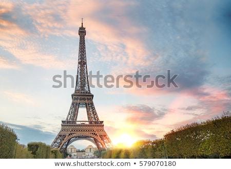 Loof Eiffeltoren bomen Stockfoto © timwege