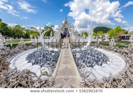 美しい · 白 · 寺 · 現代の · タイ - ストックフォト © timbrk