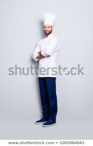 Background with Smiling Chef and Menu Stock photo © balasoiu