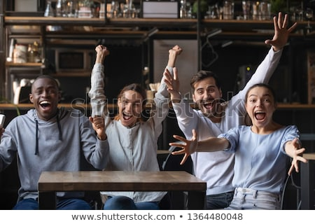 We are a great soccer team together Stock photo © stockyimages