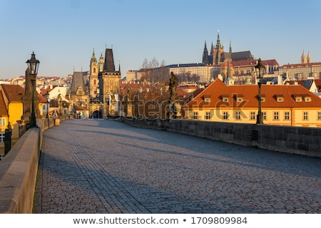 Charles bridge in Prague at surise time Stock photo © AndreyKr