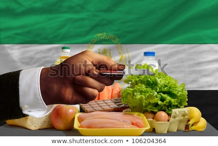 Buying Groceries With Credit Card In Afghanistan Foto stock © vepar5