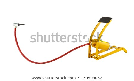 bicycle hand and foot air pump with manometer on white stock photo © ozaiachin