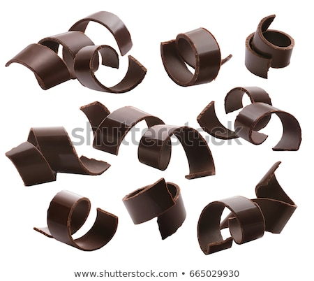Chocolate Curls Isolated on white Stock photo © danny_smythe