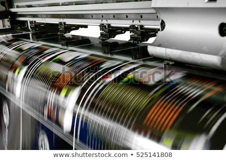 Druckerpresse Detail Handbuch Macht Stahl Thread Stock foto © prill