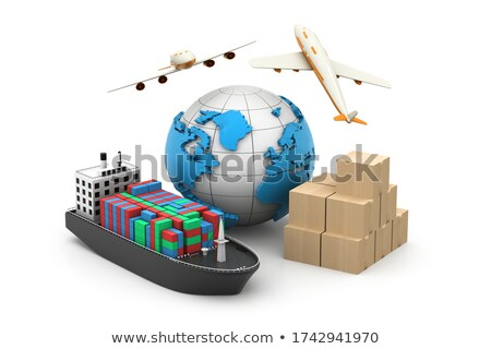 vrachtschip · bagage · business · industrie · vliegtuig · communicatie - stockfoto © 4designersart