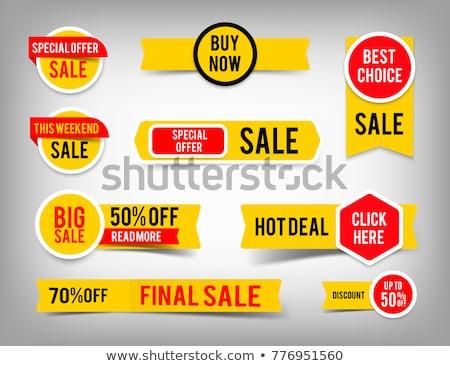 szett · grafikus · címkék · eps10 · üzlet · háttér - stock fotó © Larser