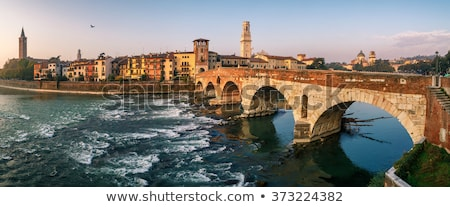 panorama of Verona with view of the old dome  Stock photo © meinzahn