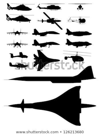 Side view of jet fighter. Stock photo © kyolshin