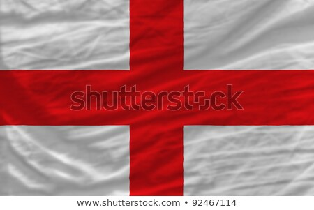 Complete Waved National Flag Of England For Background Foto stock © vepar5