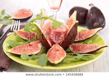 appetizer, fig salad with proscuitto ham Stock photo © M-studio