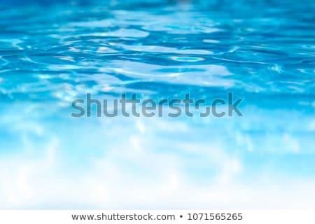 水池 水 游泳池 藍色 夏天 商業照片 © tony4urban