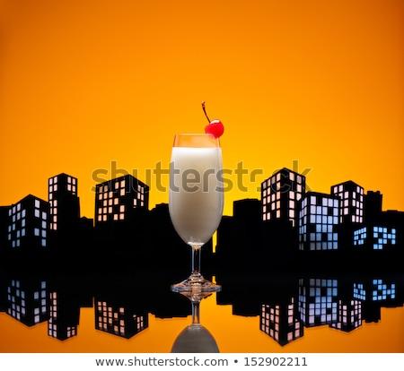 Metrópole pina colada coquetel beber diversão Foto stock © 3523studio