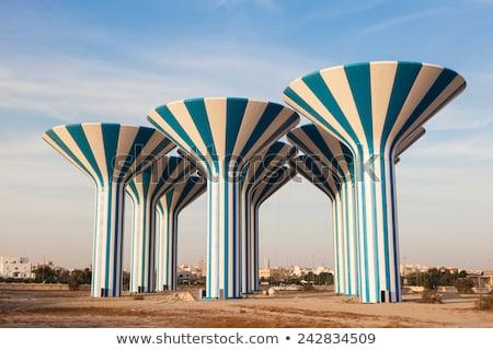 クウェート · スカイライン · 市 · 油 · 島 · 地平線 - ストックフォト © meinzahn
