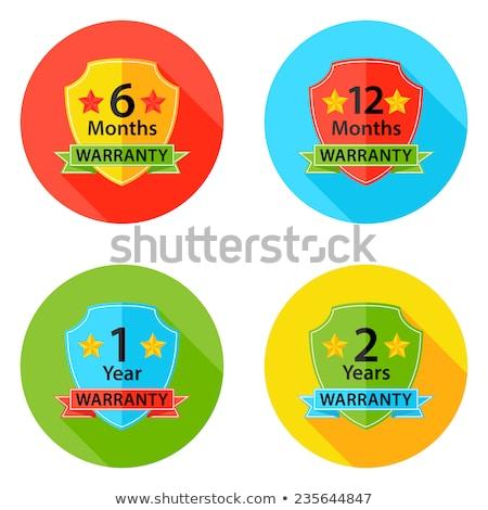 12 Month Warranty Shield and Ribbon Stock photo © patrimonio