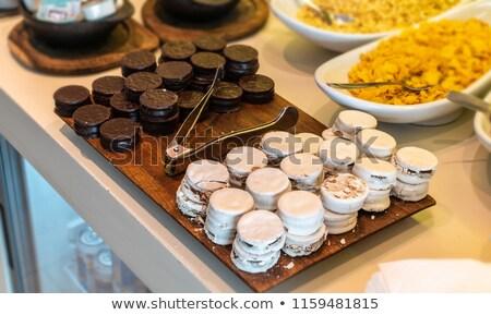 Különböző ízek fehér csokoládé kultúra édes Stock fotó © nito