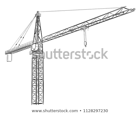 Wire frame tower crane Stock photo © cherezoff