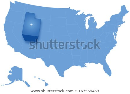 Map of States of the United States where Utah is pulled out Stock photo © Istanbul2009