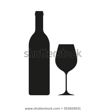 Glass and bottle of wine Stock photo © Givaga