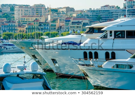 Luxury yachts in Cannes Stock photo © joyr