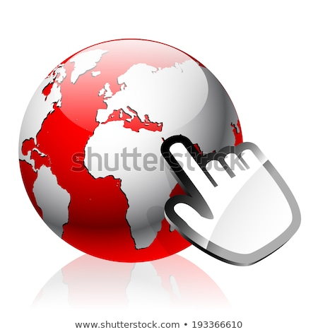glass globe earth map 3d red and cursor Stock photo © mizar_21984
