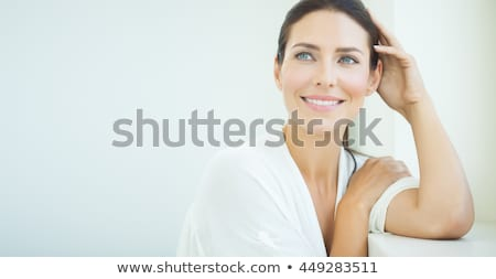 elegant beautiful woman with a dreamy look stock photo © stryjek