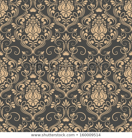 Damaszt végtelen minta terv textúra szövet retro Stock fotó © heliburcka