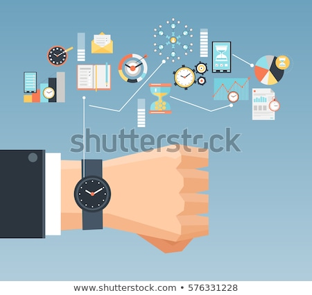 Time Management Concept in Flat Design. Stock photo © tashatuvango