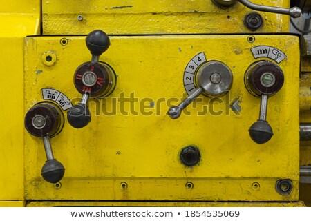 Részlet öreg gép vasaló gyár fény Stock fotó © meinzahn