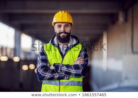 bouwvakker · naar · bouw - stockfoto © jackethead