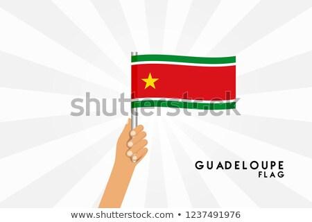 Guadeloupe Small Flag on a Map Background. Stock photo © tashatuvango