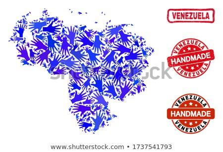 Venezuela piros pecsét felirat izolált fehér Stock fotó © tashatuvango