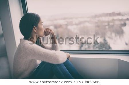 депрессия терапии депрессия человека глаза плачу Сток-фото © Lightsource