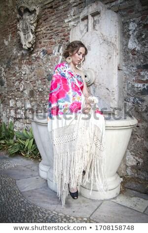 Traditional gipsy dresses fabrics Stock photo © photosebia