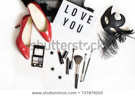 black high heel shoes with red stars stock photo © elisanth