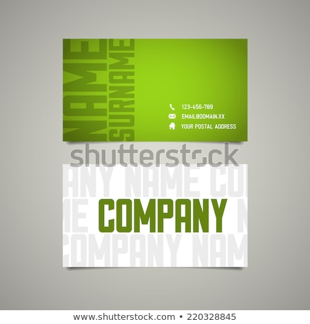 Modern simple business card template with big letters Stock photo © orson