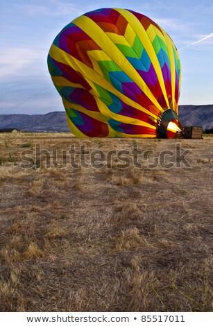 dentro · globo · de · aire · caliente · colores · azul · diversión · negro - foto stock © chrisga