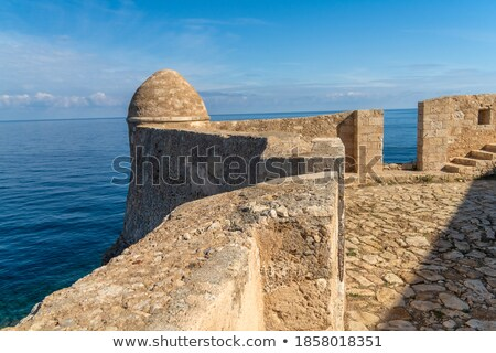 old byzantine fortress walls greece stock photo © ankarb