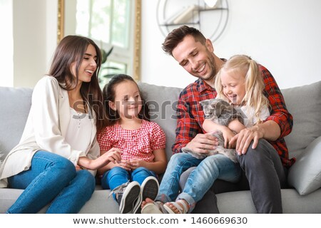cat family Stock photo © Kayco