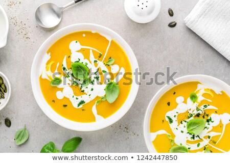 Cremoso sopa saudável vegetal ingredientes Foto stock © zhekos