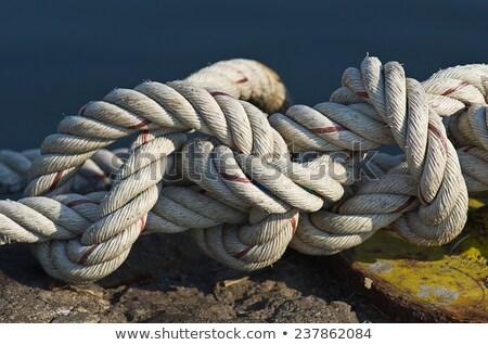 ropes tied on a rusty mooring Stock photo © nito
