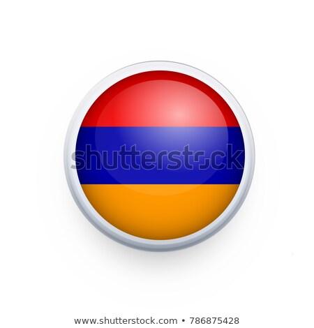 Adesivo bandeira Armênia isolado branco viajar Foto stock © MikhailMishchenko