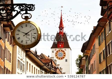 Médiévale vieille ville Suisse ville été architecture Photo stock © MichalLudwiczak